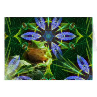 Guardian of the pond horizontal card