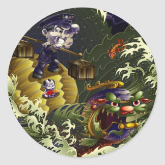 Guardian Of The South - Turtle Classic Round Sticker