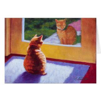 Guardian Orange Manx Cat Card