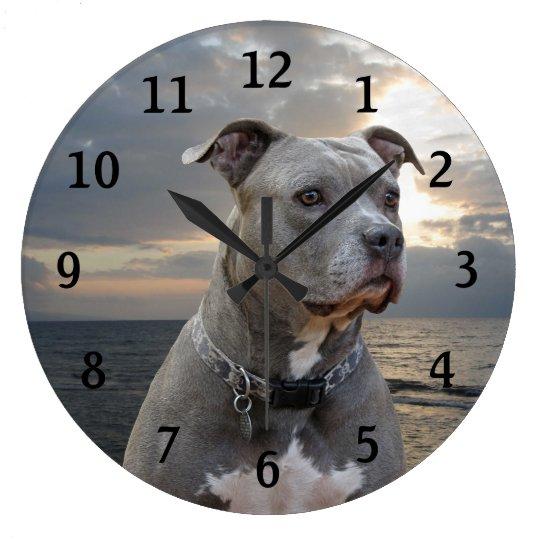Guardian Pitbull Wall Clock