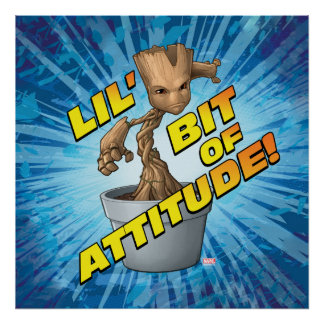 Guardians of the Galaxy | Baby Groot Attitude Poster