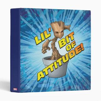 Guardians of the Galaxy   Baby Groot Attitude Vinyl Binder