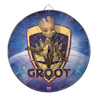 Guardians of the Galaxy | Baby Groot Crest Dartboard With Darts