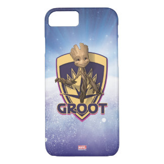 Guardians of the Galaxy | Baby Groot Crest iPhone 8/7 Case