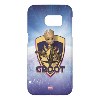 Guardians of the Galaxy | Baby Groot Crest Samsung Galaxy S7 Case