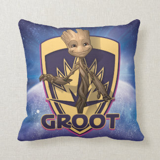 Guardians of the Galaxy | Baby Groot Crest Throw Pillow