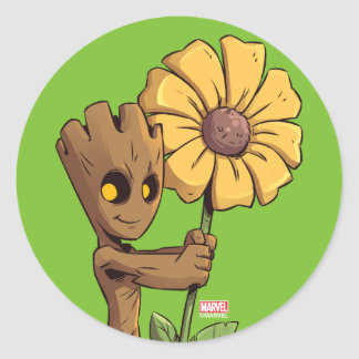 Guardians of the Galaxy | Baby Groot & Daisy Classic Round Sticker