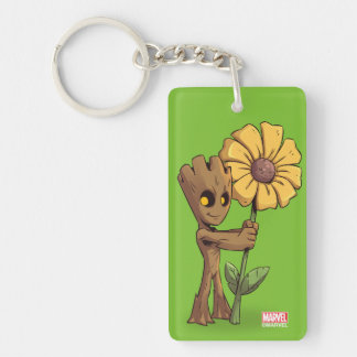 Guardians of the Galaxy | Baby Groot & Daisy Double-Sided Rectangular Acrylic Keychain