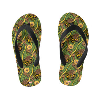 Guardians of the Galaxy | Baby Groot & Daisy Kid's Flip Flops