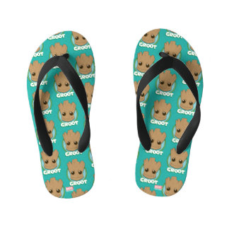 Guardians of the Galaxy | Baby Groot Face Kid's Flip Flops