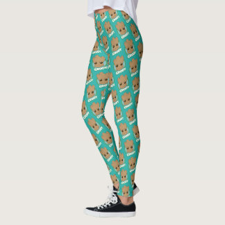 Guardians of the Galaxy   Baby Groot Face Leggings