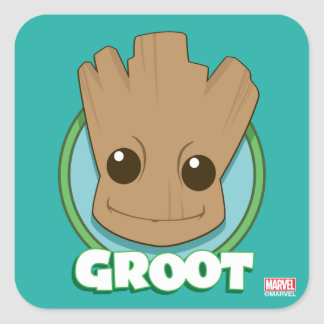 Guardians of the Galaxy | Baby Groot Face Square Sticker