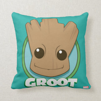 Guardians of the Galaxy | Baby Groot Face Throw Pillow