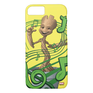 Guardians of the Galaxy | Baby Groot Music Notes iPhone 8/7 Case