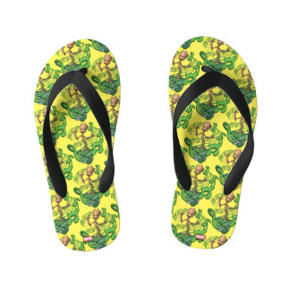 Guardians of the Galaxy | Baby Groot Music Notes Kid's Flip Flops