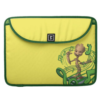 Guardians of the Galaxy | Baby Groot Music Notes Sleeve For MacBook Pro