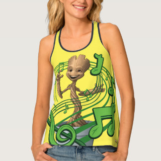 Guardians of the Galaxy | Baby Groot Music Notes Tank Top