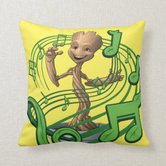 Guardians of the Galaxy | Baby Groot Music Notes Throw Pillow