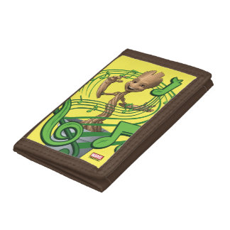 Guardians of the Galaxy | Baby Groot Music Notes Trifold Wallet