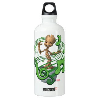Guardians of the Galaxy | Baby Groot Music Notes Water Bottle