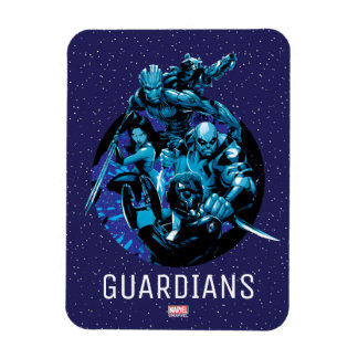 Guardians of the Galaxy   Blue Crew Graphic Rectangular Photo Magnet