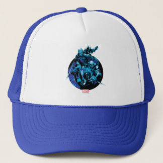 Guardians of the Galaxy   Blue Crew Graphic Trucker Hat