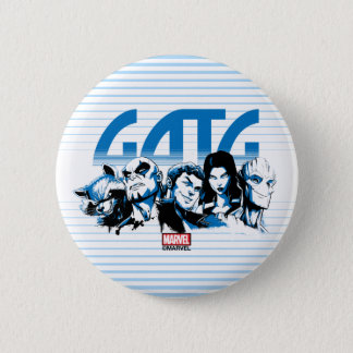 Guardians of the Galaxy | Cartoon Crew Retro Logo 2 Inch Round Button