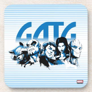 Guardians of the Galaxy   Cartoon Crew Retro Logo Coaster