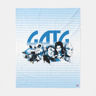 Guardians of the Galaxy | Cartoon Crew Retro Logo Fleece Blanket