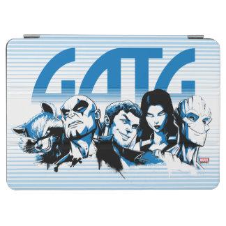 Guardians of the Galaxy | Cartoon Crew Retro Logo iPad Air Cover
