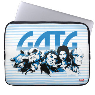 Guardians of the Galaxy | Cartoon Crew Retro Logo Laptop Sleeve