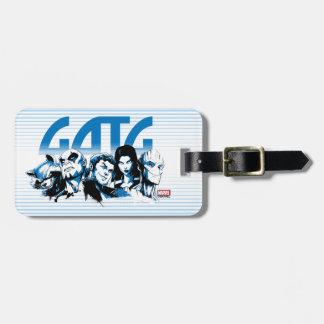 Guardians of the Galaxy | Cartoon Crew Retro Logo Luggage Tag