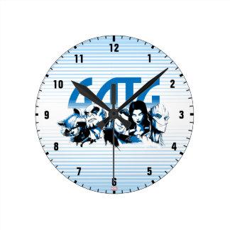 Guardians of the Galaxy   Cartoon Crew Retro Logo Round Clock