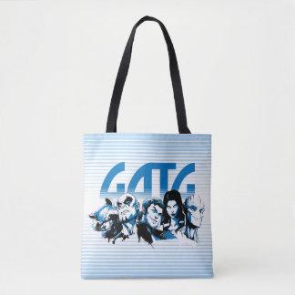 Guardians of the Galaxy   Cartoon Crew Retro Logo Tote Bag