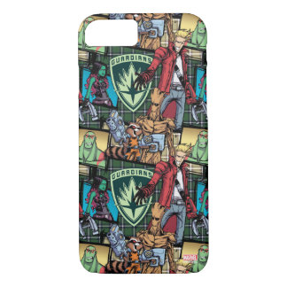 Guardians of the Galaxy | Comic Crew Pattern iPhone 8/7 Case