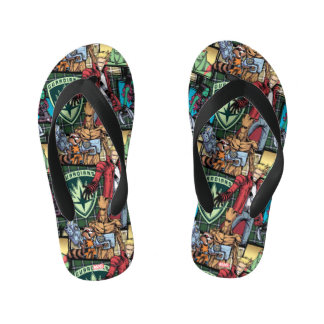 Guardians of the Galaxy | Comic Crew Pattern Kid's Flip Flops