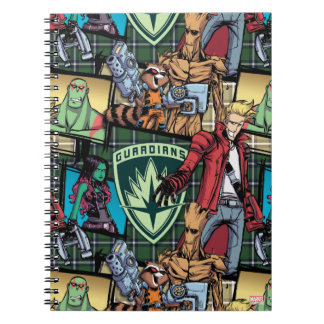 Guardians of the Galaxy | Comic Crew Pattern Spiral Notebook