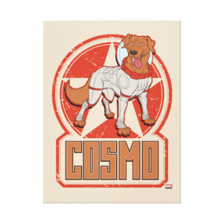 Guardians of the Galaxy | Cosmo Character Badge Canvas Print