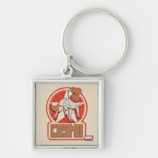 Guardians of the Galaxy | Cosmo Character Badge Silver-Colored Square Keychain