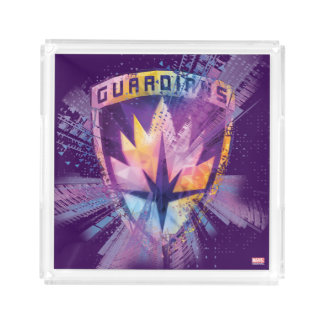 Guardians of the Galaxy | Crest Neon Burst Acrylic Tray