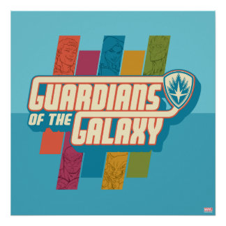 Guardians of the Galaxy | Crew Color Bar Logo Poster