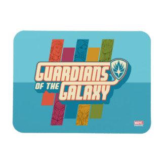 Guardians of the Galaxy   Crew Color Bar Logo Rectangular Photo Magnet