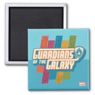 Guardians of the Galaxy   Crew Color Bar Logo Square Magnet