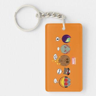 Guardians of the Galaxy | Crew Comic Emoji Art Double-Sided Rectangular Acrylic Keychain