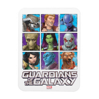 Guardians of the Galaxy   Crew Grid Rectangular Photo Magnet