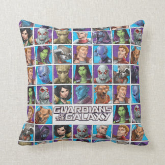 Guardians of the Galaxy | Crew Grid Throw Pillow