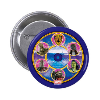 Guardians of the Galaxy | Crew In Neon Circles 2 Inch Round Button