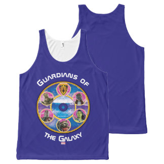 Guardians of the Galaxy | Crew In Neon Circles All-Over-Print Tank Top