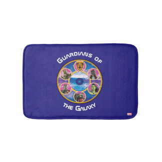 Guardians of the Galaxy | Crew In Neon Circles Bathroom Mat