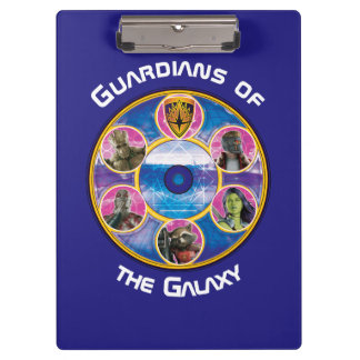 Guardians of the Galaxy   Crew In Neon Circles Clipboard